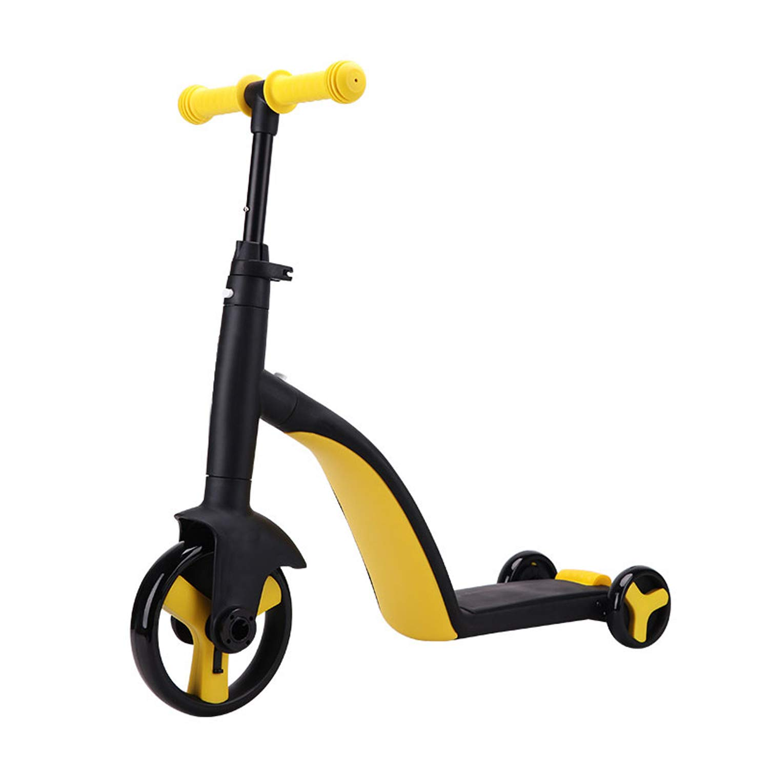 Piarrow 3-in-1 Convertible Tricycle, Balance Bike, Kick Scooter for Kids and Toddler at Age of 2, 3, 4, 5 Year Old | Trike Turns Into 3 Wheel Scooter for Boys & Girls - Yellow by Piarrow