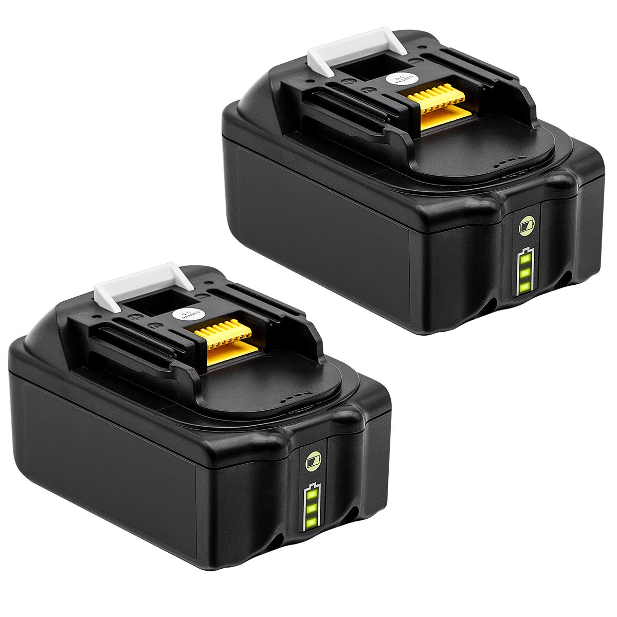 2PACK 6.0Ah BL1860B Replace for Makita 18V Battery with LED Indicator BL1860 BL1850 BL1840 BL1830 LXT-400 194204-5 Series Cordless Power Tools Battery