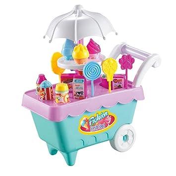 Sharplace Juguete de Simulación de Casa de Muñecas Tienda de Helados con Luces y Sonidos Regalo de Fiesta Cumpleaños para Niños: Amazon.es: Juguetes y ...