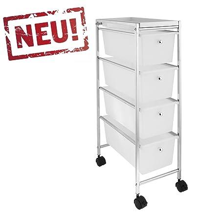 Rollbares Badregal Kuchenregal Badtrolley Rollwagen Schubladenwagen