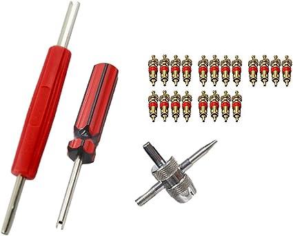 100 X RED BAND VALVE STEM CORE TIRE PRESSURE SENSOR CORES TPMS