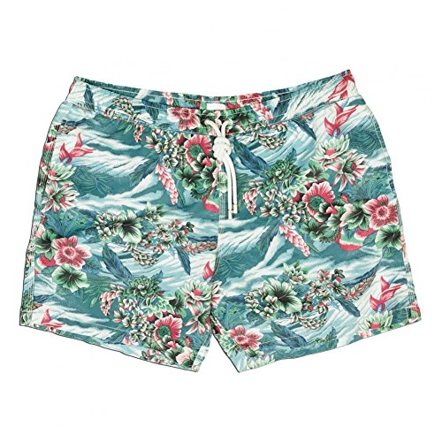 Hartford Hawaiian Print Swim Short, Multi Large Multi Multi