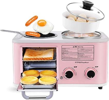 L Tsa Kitchen Electric 3 In 1 Household Breakfast Machine Mini Bread Toaster Oven Omelette Frying Pan Cooking Pot Food Steamer Blue Pink Amazon De Sport Freizeit
