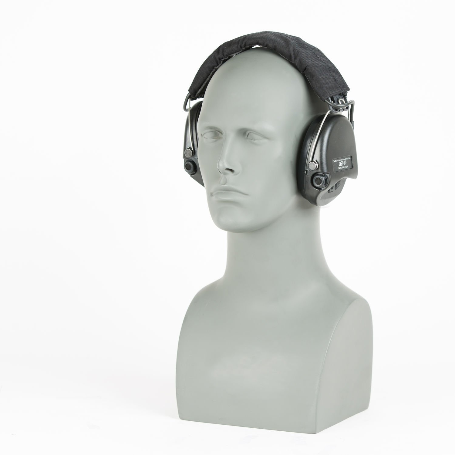 TCI Communications Over The Head Suspension Mil-Spec Dehp Digital Hearing Protection, Black