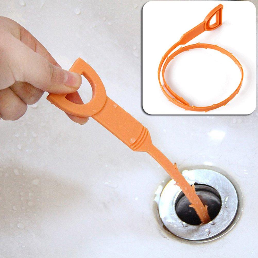 Dusche Badewanne Waschbecken Bestomz Abflussreinigungswerkzeug zur Entfernung von Haaren f/ür K/üche 5 St/ück