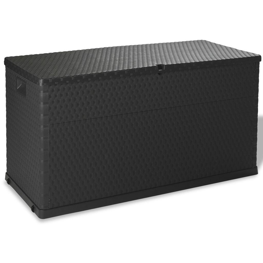 vidaXL Auflagenbox 420L Anthrazit Kissenbox Gartenbox Gartentruhe Kiste Garten