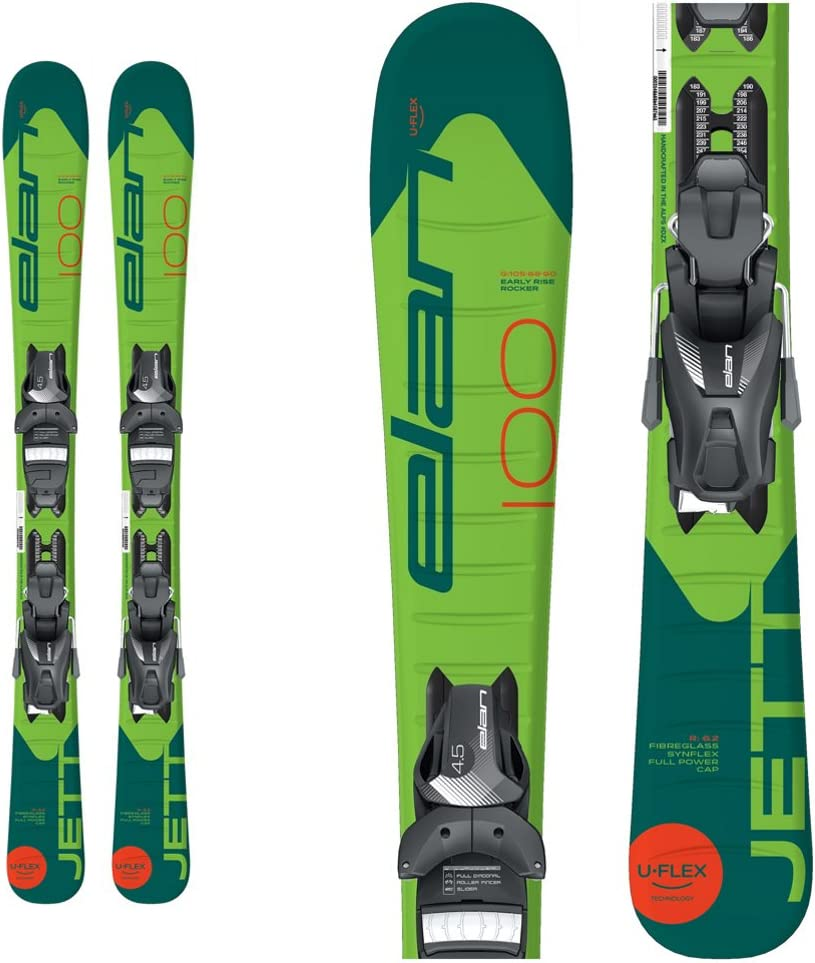 ELAN Jett Kids Skis EL 4.5 Bindings  80cm