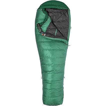 Marmot Palisade Long Saco de Dormir, Color Sage Green/Deep Forest, tamaño LZ