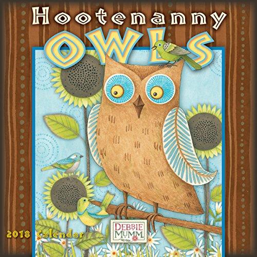 Debbie Mumm Calendars - Hootenanny Owls - Debbie Mumm 2018 Mini Calendar (CS0198)