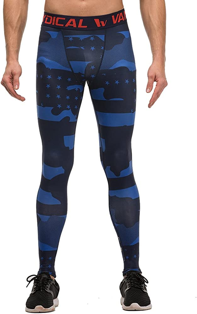 Mens Compression Leggings Base Layer Tights Wicking Pants