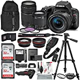 Canon EOS Rebel SL2 DSLR Wi-Fi Camera with EF-S 18-55mm STM Lens (Black) Bundle w/EF 75-300mm f/4-5.6 III Lens + 32GB + Xpix Tripods & Cleaning Kit + More
