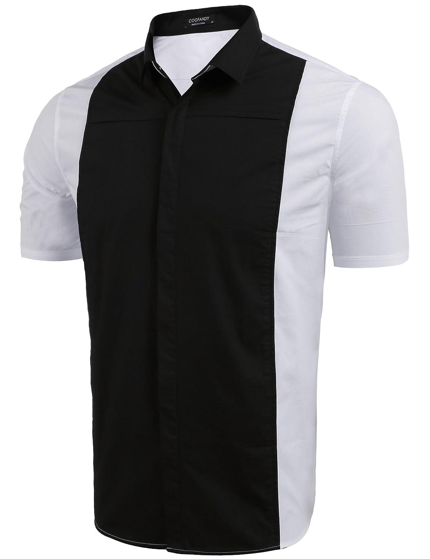 Wanlian Mens Retro Bowling Shirts Plus Size Shirts Rockabilly Clothing