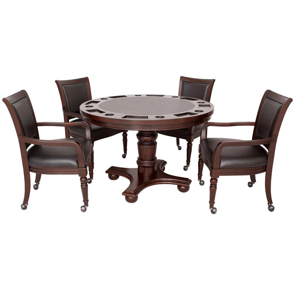 Wonderful Amazon.com : Hathaway Bridgeport 2 In 1 Poker Game Table Set, Walnut Finish  : Sports U0026 Outdoors