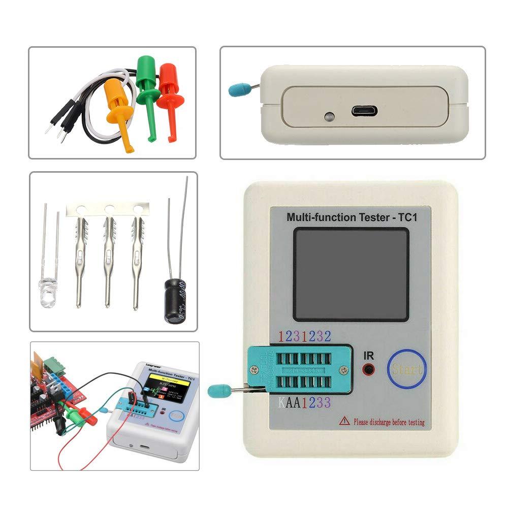 3.5 inch Colorful Display Pocketable Multifunctional TFT Backlight Transistor LCR-TC1 Tester for Diode Triode Capacitor Resistor Transistor LCR ESR NPN PNP MOSFET