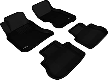 3D MAXpider Complete Set Custom Fit All-Weather Floor Mat for Select Infiniti Models Black Kagu Rubber