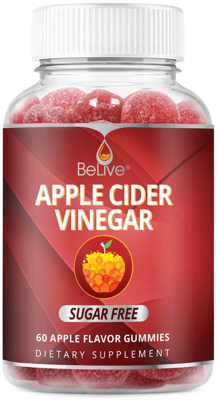 Apple Cider Vinegar Gummies - Sugar Free, Gluten Free, No Glucose Syrup, Gummy Alternative to Capsules & Drink (60 Ct)