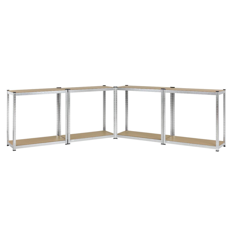 180 x 90 x 40 cm Juskys 2er Set Lagerregal Basic Ma/ße