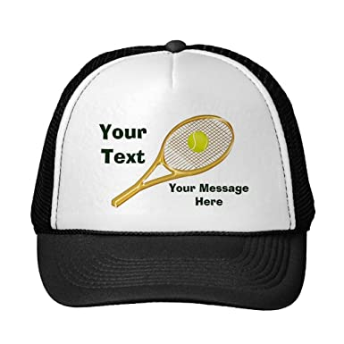 1889ab8fc9e Image Unavailable. Image not available for. Color  Funny Personalized  Tennis Hats For Men And Women