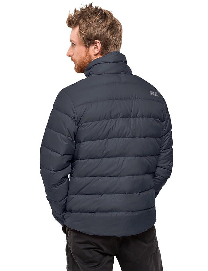 Jack Wolfskin Men's Helium High Lightweight Windproof Down Puffer Jacket, Ebony, XX Large