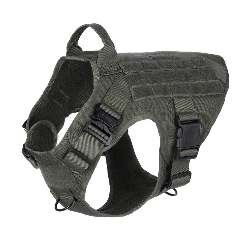 Color : Black, Size : XS Chest 18to 23inch Arn/és Modular para Perros t/ácticos Militares Sin tir/ón Frente Clip Aplicaci/ón de la Ley K9 Trabajando Cannie Molle Chaleco de Caza WQ-HUNTING