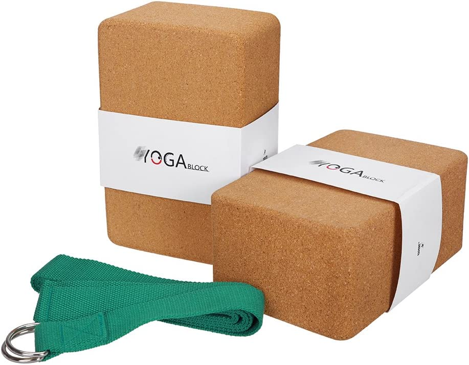 JBM Yoga Block Plus Strap with Metal D-Ring