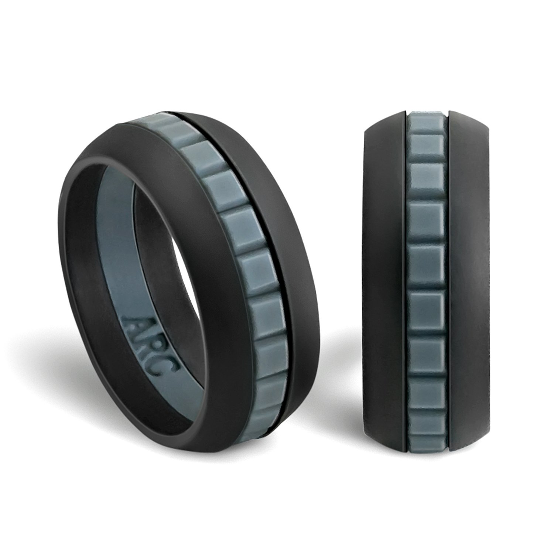 Amazon Mens Silicone Wedding Ring Band ArcRings Sports