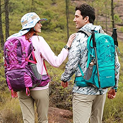 Camel 40L Travel Backpack Lightweight Hiking Backpack Daypack Waterproof with Rain Cover for Camping Climbing Outdoor Mountaineering Fishing by