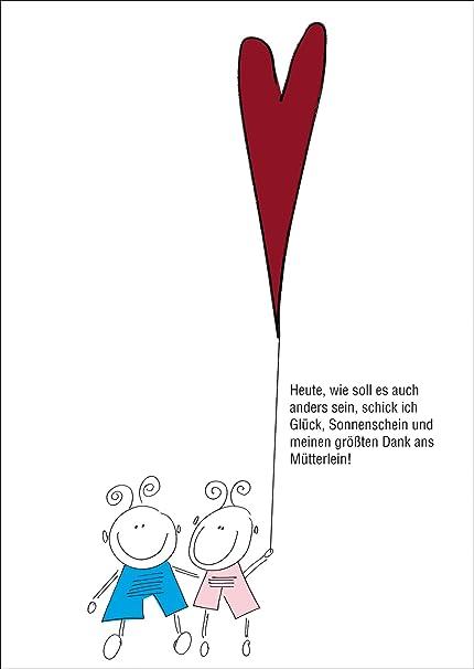 Compra Helga Bühler Bonito Día de la Madre Tarjeta de felicitación: Géminis Con Corazón Para mütterlein & # x2022; también para directamente enviar con su texto personales como Einleger. en Amazon.es