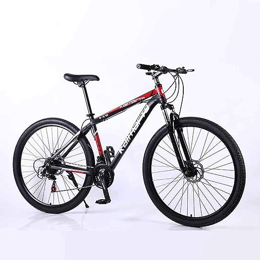 XER Bicicleta de montaña rígida, Rueda de radios de Acero de Alto ...