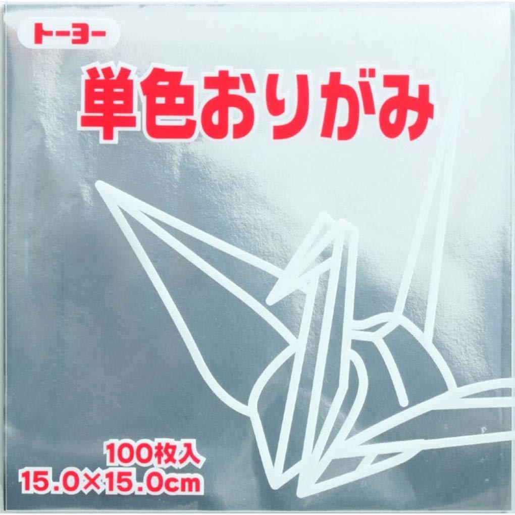 Toyo Origami Paper Single Color - Silver - 15cm, 100 Sheets IT