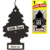 6 Little Trees Black Ice Scent Air Freshener Car Auto Pack Home Hanging Office