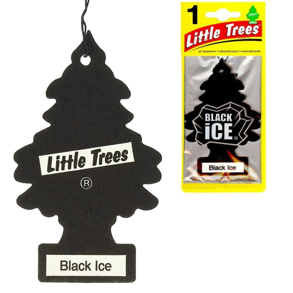 Little Trees 6 Black Ice Scent Air Freshener Car Auto Pack Home Hanging Office
