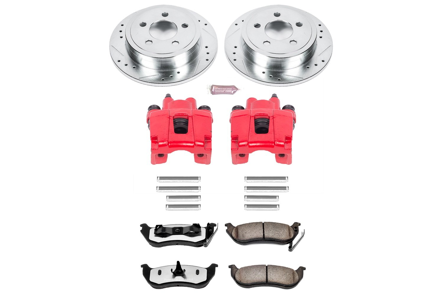 Power Stop KC2197-36 Rear Z36 Truck and Tow Brake Kit with Calipers