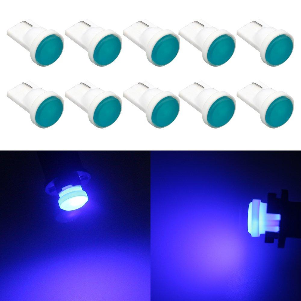 Grandview 60 Lumens Blanc 194 2825 T10 W5W 168 501 192 Ampoule LED Super Bright Ampoule Ampoule /à Compartiments Ampoule /à Ampoules /à Ampoules /à Hauteur Centrale 1.5W 12V 10-Pack