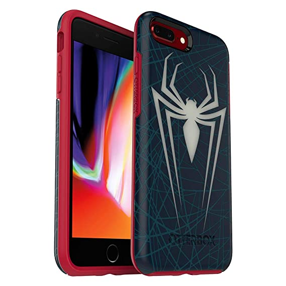 OtterBox Symmetry Series Disney Spider-Man and Venom Case for iPhone 8 Plus & iPhone 7 Plus(ONLY) - Retail Packaging - Spiderman (Translucent ...