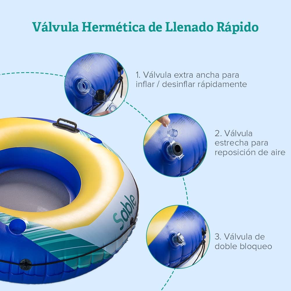 Sable Rueda Hinchable Flotador Gigante para Piscina: Amazon.es ...