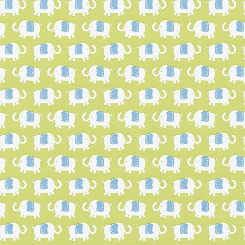 Caspari 89840RSC roll of gift wrap, Elephant Parade -