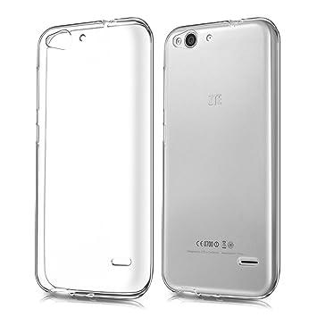 kwmobile Funda de TPU silicona chic y sencilla para el ZTE Blade S6 4G LTE en transparente