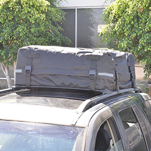 BDK TopHaul Waterproof Roof Top Cargo Bag XL for Car Auto SUV Van - Soft Rooftop Carrier