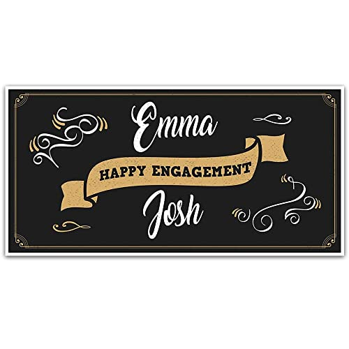 Vintage Ornaments Engagement Banner Decoration Backdrop