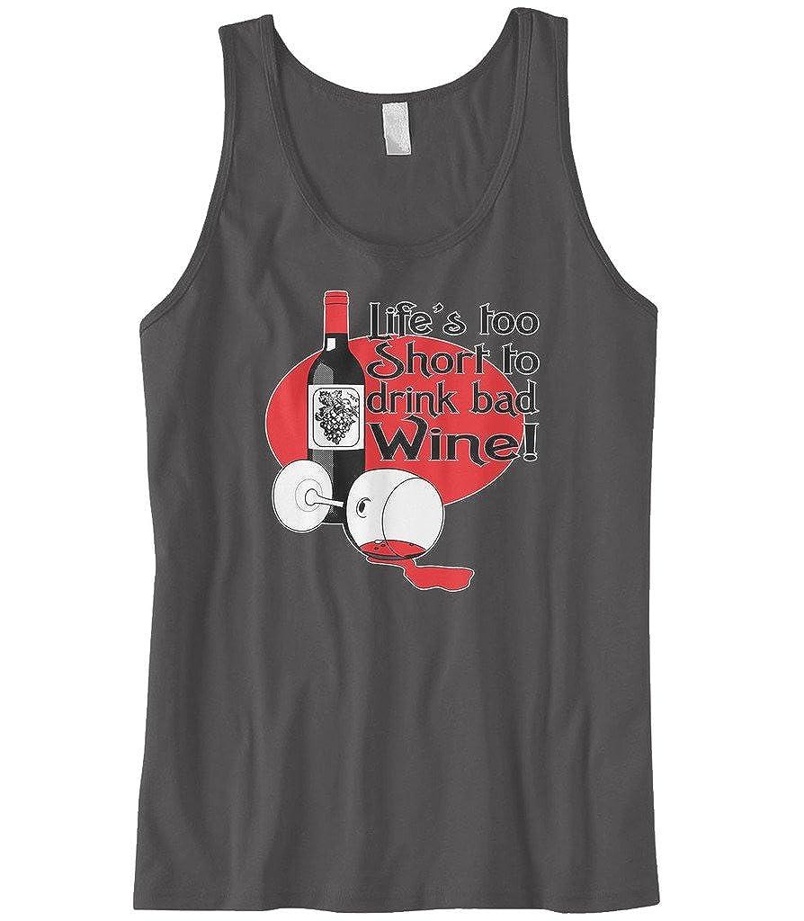Cybertela Mens Lifes Too Short to Drink Bad Wine Tank Top