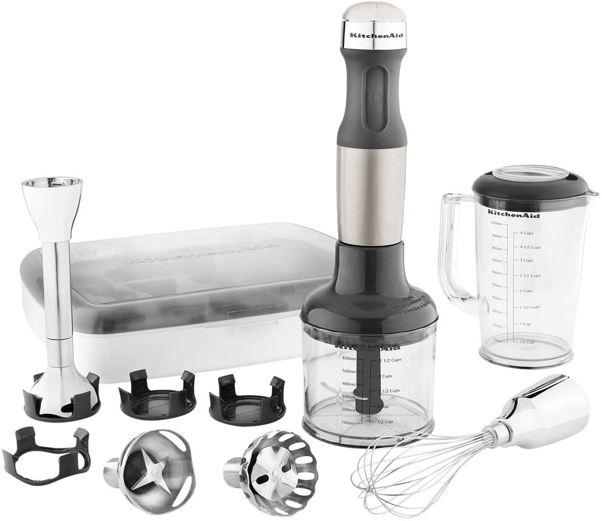 KitchenAid KHB2561ACS Architect Series 5-Speed Hand Blender - Coco Silver