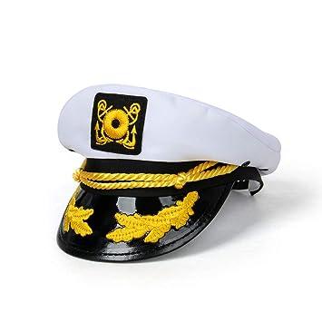 Funhoo Capitán de yate Adulto Hat Ajustable Barco Gorra de ...