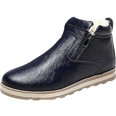 0da753d44333 wealsex Chaussure Homme Hiver Cuir Basket Fourree Chaude  Amazon.fr ...