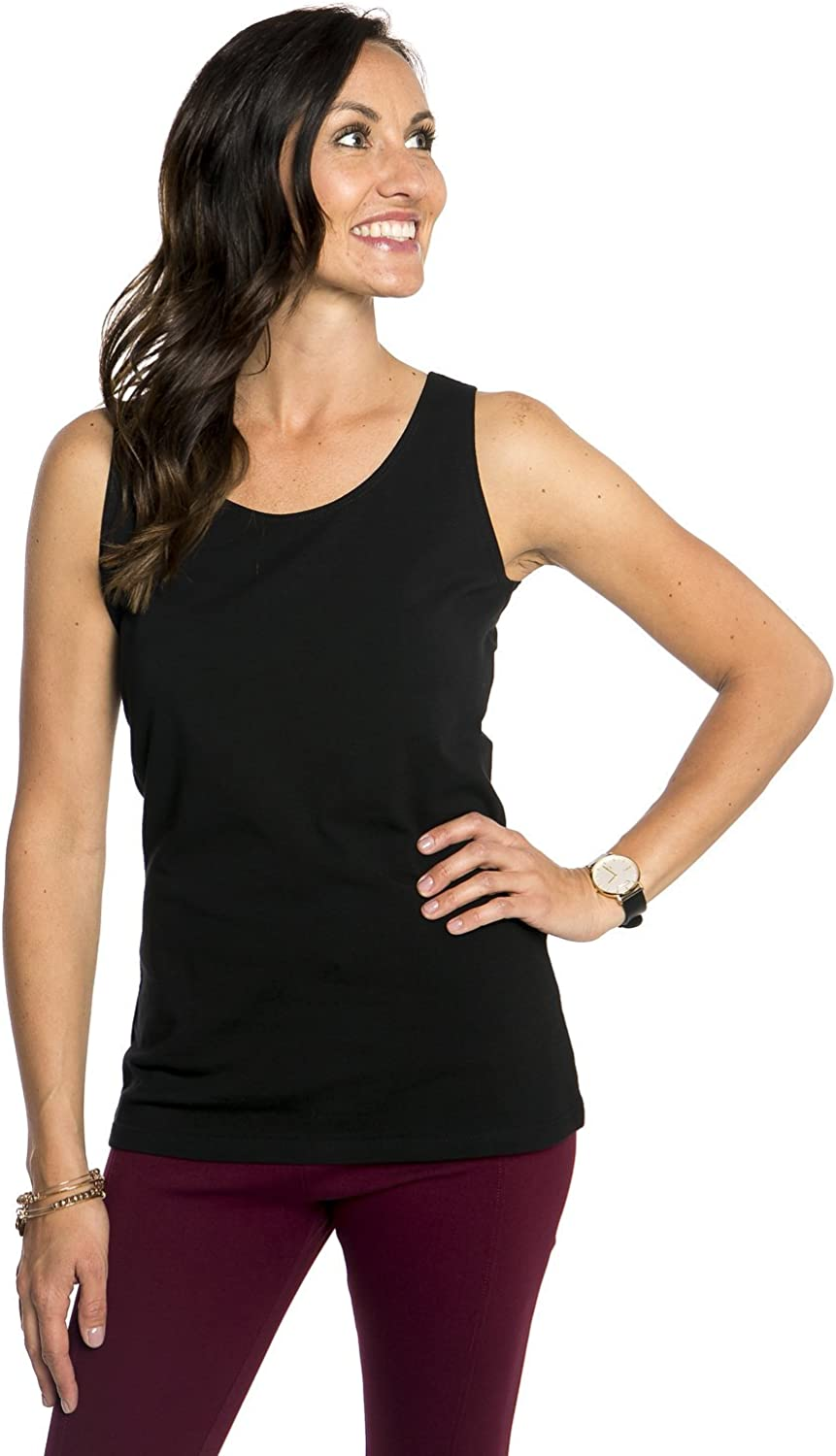 Heirloom Tank Top USA Made - Womens Thick Comfy Layering Shirt Dressy - Active