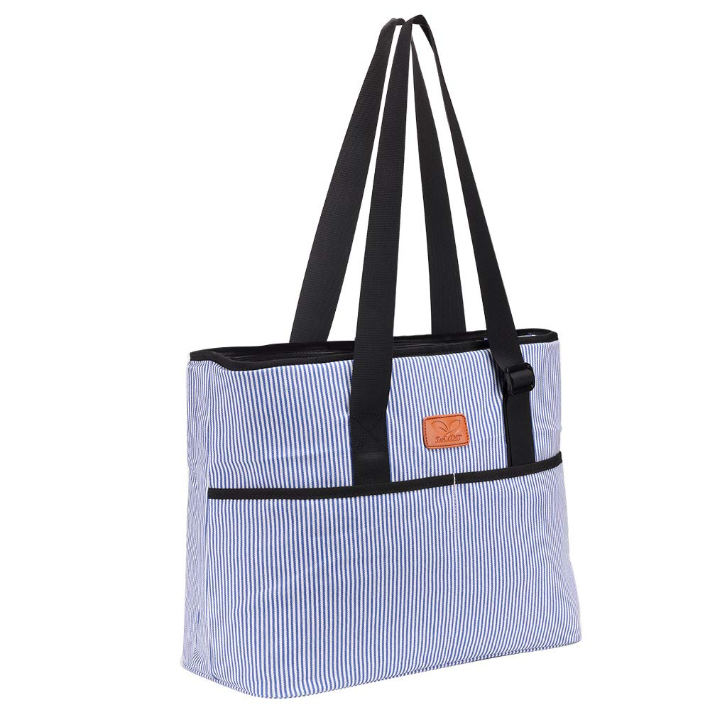 Large Reusable Grocery Bag Beach Shopping Tote Multifunctional Canvas Shoulder Handbag for Women with Adjustable Handle Strap 16 x 7 x 13inch F40C4TMP JILB028CA-F4