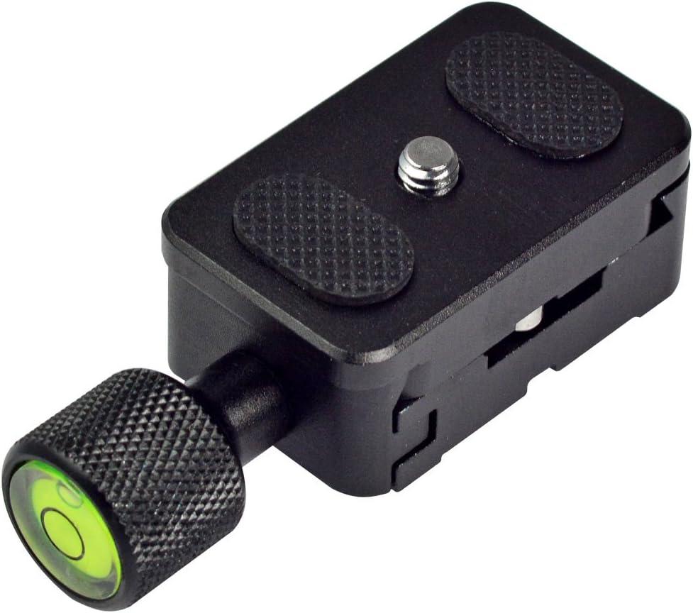 MENGS K30 Abrazadera Ajustable de cámara de Tornillo de 1/4 '' + Placa de liberación rápida Compatible con Interfaz estándar Akai, como Arca/Kirk/Wimberley/BENRO/RRS Etc Clam
