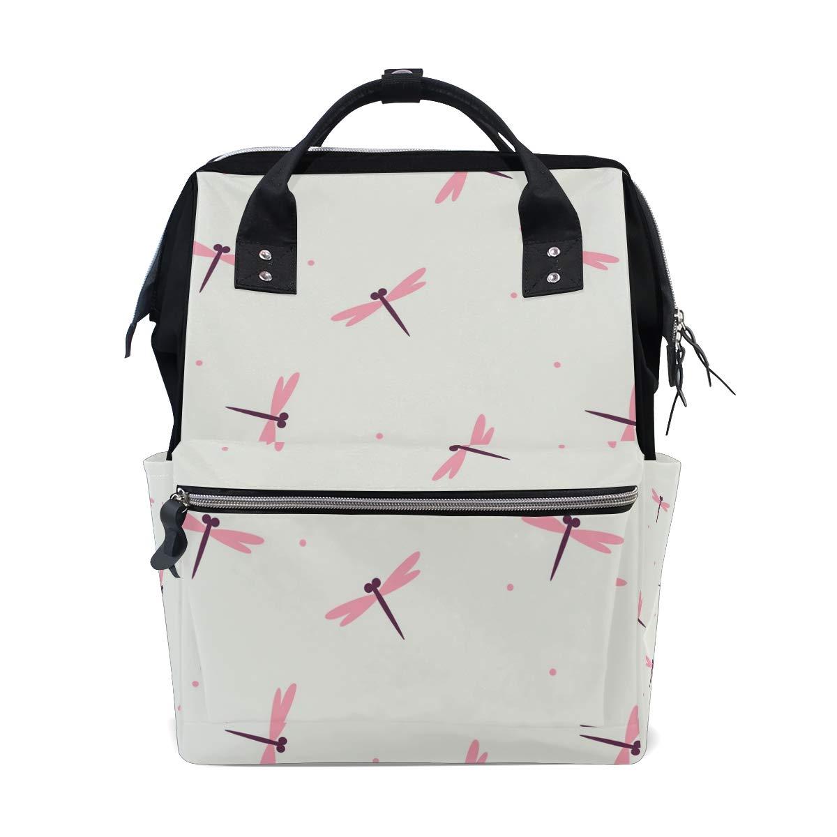 MALPLENA Daypack Adorable Pink Dragonfly School Bag Travel Backpack