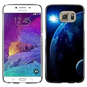La estrella sobre la Tierra - Metal de aluminio y de plástico duro Caja del teléfono - Negro - Samsung Galaxy S6