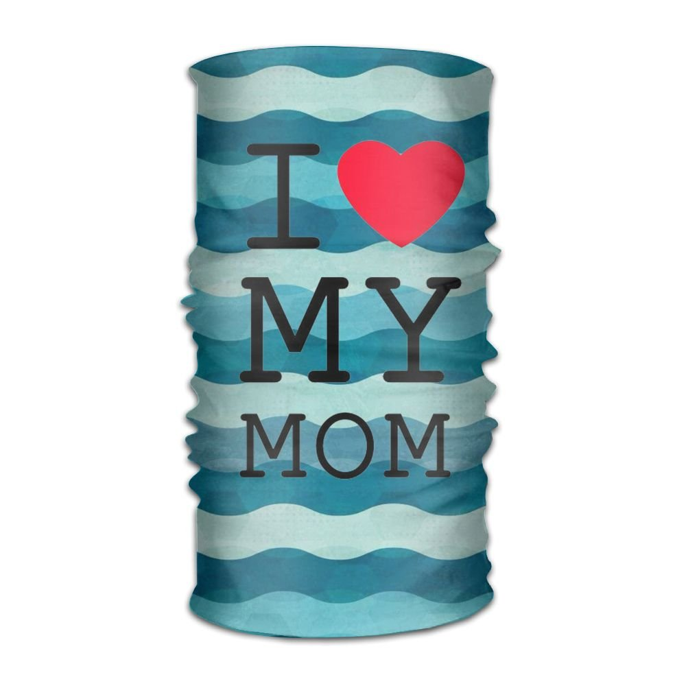 Love My Mom 16-in-1 Magic Scarf,Face Mask,fishing Mask,Thin Ski Mask,Neck Warmer Balaclava Bandana For Raves,Dust,Riding Bike,Motorcycle,Outdoor Activities